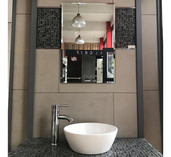 Espejo Rectangular 40x60 Borde Biselado Baños Decoracion