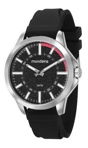 Relógio Mondaine Masculino Silicone Preto Original