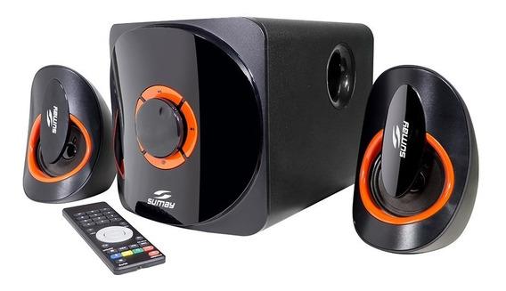 Caixa Som Sumay Home Teacher Sm-cs3313b Bluetooth Usb Sd
