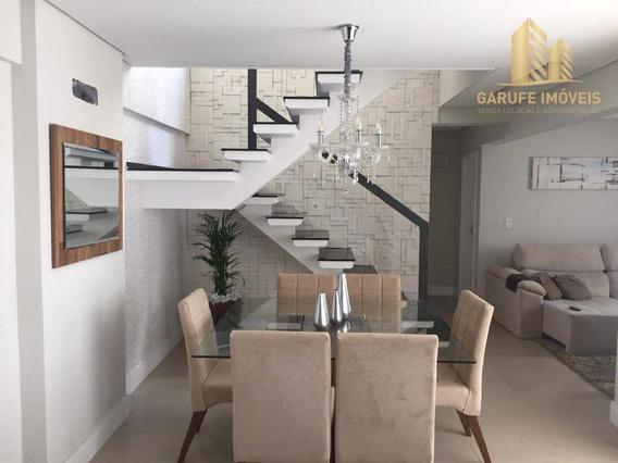Apartamento Duplex Com 3 Dormitórios À Venda, 150 M² Por R$ 767.000,00 - Jardim Satélite - São José Dos Campos/sp - Ad0003
