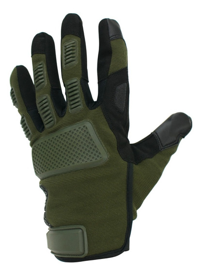 Guantes Moto Samurai Warrior Madrid Cuero Verde Corto To
