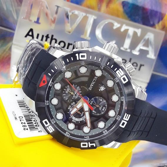 Relógio Invicta 28270 Aço Inox Borracha Preto * Sea Hunter