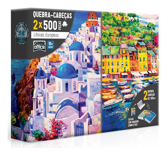 Puzzle Quebra Cabeça Litorais Europeus 2x 500 Peças Toyster