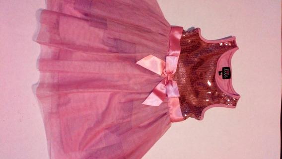 Vestido Niña Talla 4 Color Rosa Palo