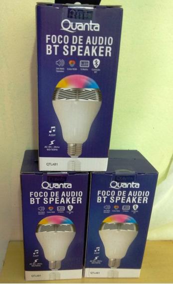 Caixa De Som Lampada Quanta Bluetooth Controle Celular