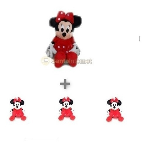 Kit 1 Minnie 50cm + 3 Minnie Vermelha 27cm