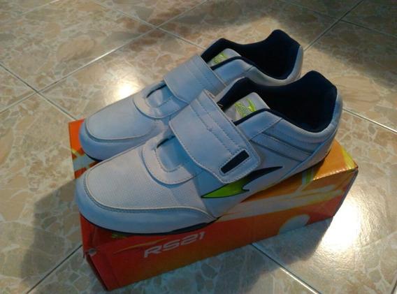 Zapatos Deportivos Rs21 De Cuero Y Velcro