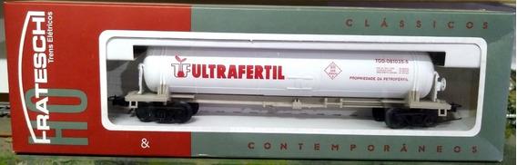 Vagón Cisterna Quimico Ultrafertil - Frateschi 2029 (brasil)