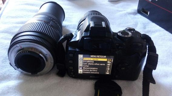 Câmera Nikon D60 18-55mm Mais Lente Sigma 70-300mm F4-5.6