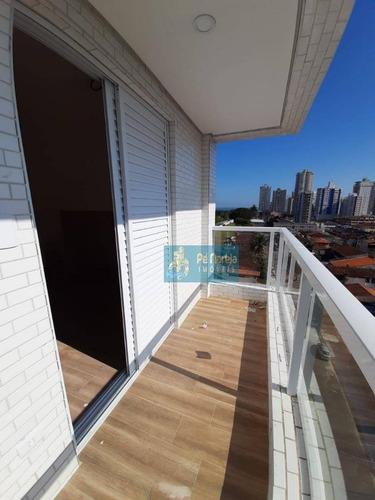 Imagem 1 de 21 de Apartamento Duplex Com 2 Dormitórios À Venda, 113 M² Por R$ 370.000,00 - Canto Do Forte - Praia Grande/sp - Ad0004