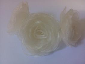3 Flores De Organza