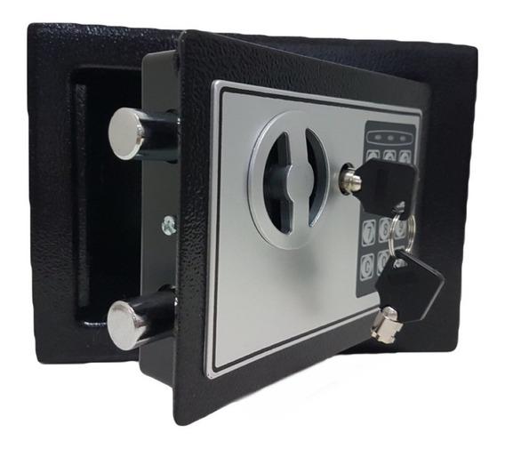 Cofre Eletrônico Digital Senha Ou Chave 23x17x17cm