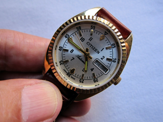Reloj Vintage De Pulsera Citizen Chapa De Oro Made In Japan