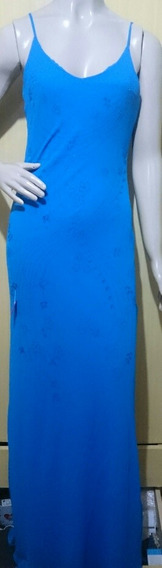 Vestido Super Longo Bordado A Mão Festa Luxo C/ Lenço