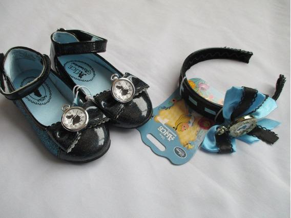 Sapato C/tiara Alice No Pais Das Maravilhas Orig.loja Disney