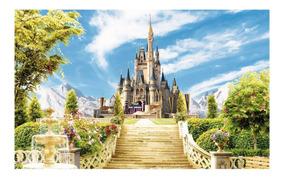 Fundo Fotográfico Tecido Sublimado 3d Castelo 2,20x1,50m