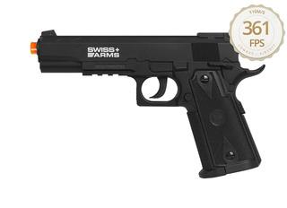 Pistola Pressão Co2 Esferas Aço Swiss Arms P1911 4.5mm Match
