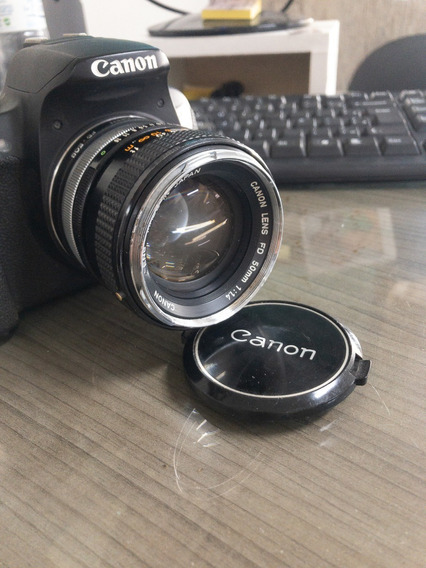 Lente Vintage Canon 50mm F/1.4 + Adaptador Canon Digital