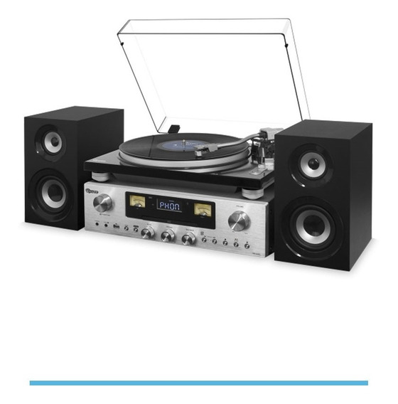 Vitrola Raveo Concert One Toca Discos Rádio Usb Cd Bluetooth