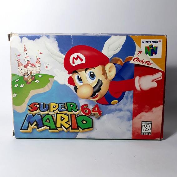 Jogo Super Mario 64 N64 Nintendo Americano Original C/ Caixa
