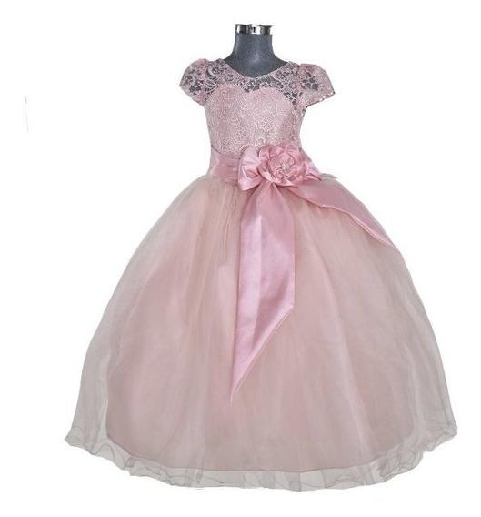 Vestido De Fiesta Para Niña Vestido Paje Ceremonia
