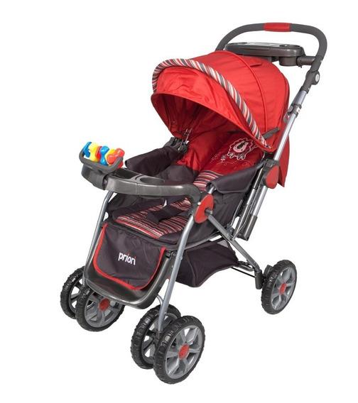 Coche Pco-06 Para Bebe Manija Reversible Priori Rojo