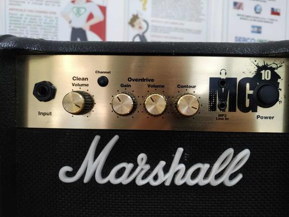 Amplificador Marshall Mg10 Mp3 Line In Como Nuevo Garantía