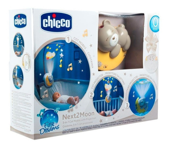 Proyector Cuna Chicco Next2moon Música Clásica 9828 E.full