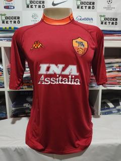 Camisa Roma 2000-01 Batistuta 18 Serie A À Pronta Entrega