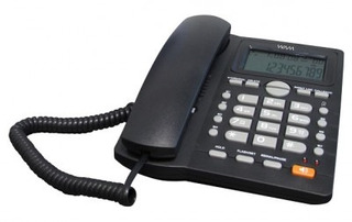 Teléfono Alámbrico Wam As7412-b(w) - Analógica, Desk/wall,