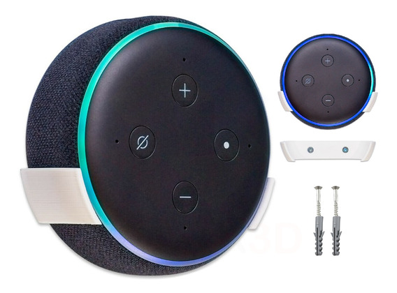 Suporte De Parede Para Alexa Echo Dot 3 Geração Drywall