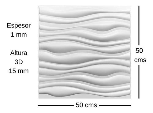 Panel 3d 50x50 Cms Paredes 3d  Paneles 3d Deckoboard - Ondas