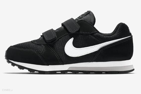 Tênis Infantil Nike Md Runner 2 - Preto E Branco - Us 10c