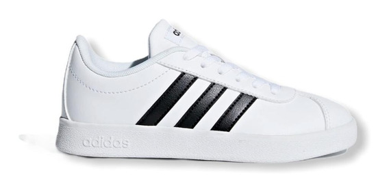 Zapatilla adidas Court Vulk 2.0 White Black Kids Rcmdr