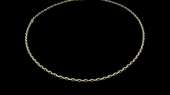 Corrente Unissex Piastrine Em Ouro 18k 750