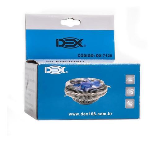Imagem 1 de 3 de Cooler Cpu Amd Ou Intel Dex Dx-7120m - 2369