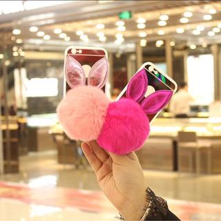 Case Forro Pompom Conejo iPhone 6/6s Plus