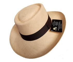 Sombrero Unisex Jipijapa Panama Gambler Hombre Mujer