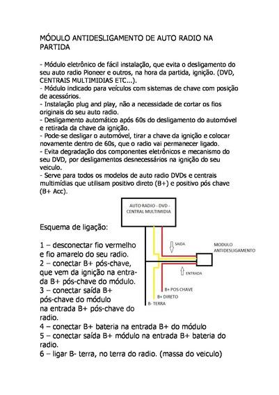 Modulo Anti Desligamento Dvd Pioneer.