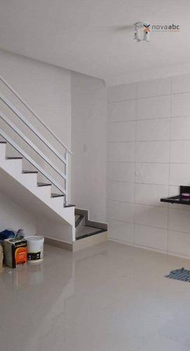 Imagem 1 de 8 de Cobertura Com 2 Dormitórios À Venda, 56 M² Por R$ 395.000 - Vila Linda - Santo André/sp - Co1174