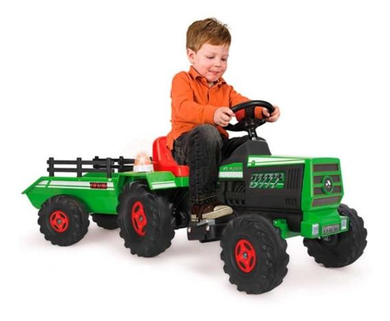 Montable Electrico Tractor Dump Track 6v Con Luz Injusa