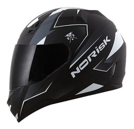 Capacete para moto integral Norisk FF391 Stripes black/white M