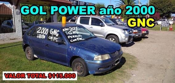 Volkswagen Gol Power Año 2000 Con Gnc, Con Detalles