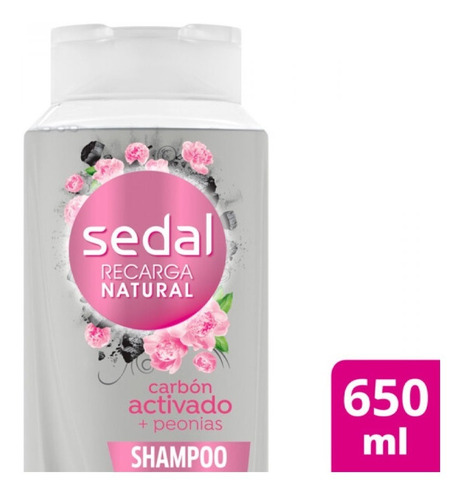 Sedal Shampoo Carbon Activado + Peonias 650ml