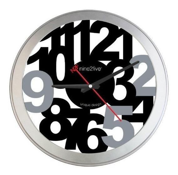 Reloj De Pared Nine2five, Pfee01ng Mov Silencioso Watch It