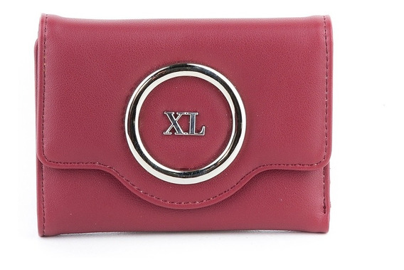 Billetera Mujer Xl Extra Large Nora Rojo