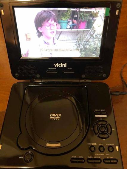 Dvd Player Portatil Vicini Vc 6200 Semi-novo (leia Tudo)