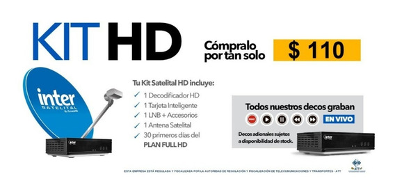 Kit Tv Inter Satélital Full Hd Decodificador +30 Dias Gratis