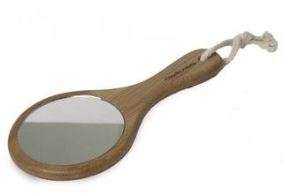 Espejo Con Mango Maquillaje De Mano En Bamboo