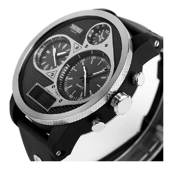 Relógio Masculino Skmei 1033 Led Anadigital Preto
